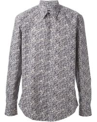 Fendi - Blue Geometric Print Shirt for Men - Lyst