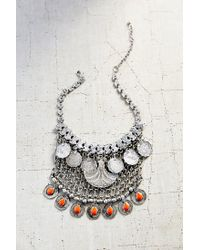 Urban Outfitters - Metallic Desert Sun Statement Bib Necklace - Lyst