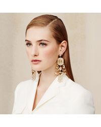 Ralph Lauren | Metallic Swarovski Chandelier Earrings | Lyst