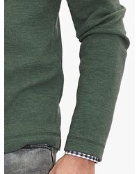 Banana Republic | Green Woven-trim Half-zip Pullover for Men | Lyst
