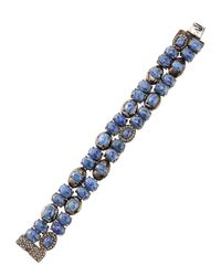 Bavna | Blue Sapphire & Diamond Station Bracelet | Lyst