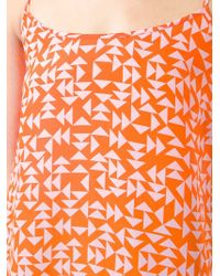 Iceberg - Orange Printed Spaghetti Strap Top - Lyst