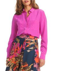 Trina Turk | Pink Callie Silk Blouse | Lyst