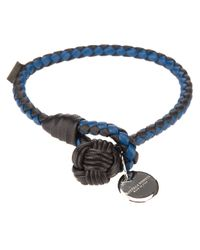 Bottega Veneta | Blue Intrecciato Bracelet for Men | Lyst