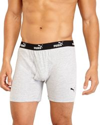 PUMA | Blue 3-Pack Multicolor Boxer Briefs for Men | Lyst
