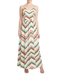 1.STATE | Multicolor Zigzag Print Maxi Dress | Lyst