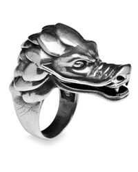 Platadepalo - Metallic Silver Dragon Ring for Men - Lyst