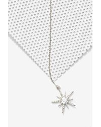 Nasty Gal - Metallic Lucky Star Lariat Necklace - Lyst