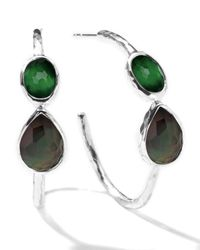 Ippolita | Green Wonderland Gelato Crystal Hoop Earrings | Lyst