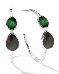Ippolita | Metallic Wonderland Gelato Crystal Hoop Earrings | Lyst
