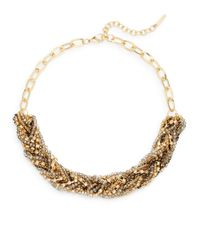Saks Fifth Avenue - Metallic Beaded Braid Collar Necklace - Lyst