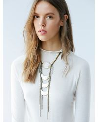 Free People | Metallic Love And Leather For Womens Golden Paradise Necklace | Lyst