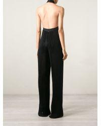 Balmain - Black Draped Jumpsuit - Lyst