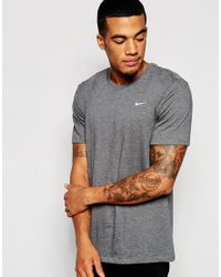 Nike | Gray T-shirt Embroidered Swoosh 707350-071 for Men | Lyst