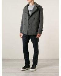 Hydrogen - Gray Duffle Style Cardigan for Men - Lyst