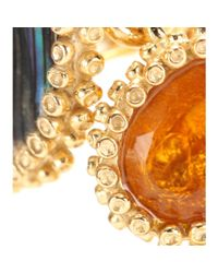 Isharya - Multicolor Abalone and Crystal Goldplated Earrings - Lyst
