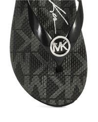 MICHAEL Michael Kors | Black Jelly Flip Flops | Lyst