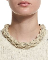 Brunello Cucinelli - Natural Monili-chain Rope Collar Necklace - Lyst