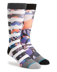 Stance - Purple 'canvas' Dress Socks for Men - Lyst