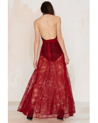 Nasty Gal | Red Just In Lace Maxi Skirt - Burgundy | Lyst