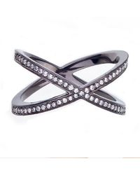 Alexa Leigh | Pave Tryst Ring, Black Rhodium | Lyst