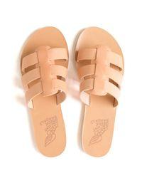 Ancient Greek Sandals - Natural Triple Strap Slide - Lyst