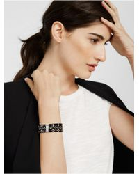BaubleBar - Metallic Stitch Bracelet - Lyst