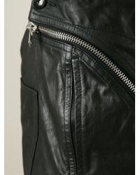 Rick Owens - Black Asymmetric Zip Trousers for Men - Lyst