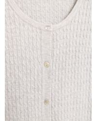 Mango - Gray Cable-knit Cardigan - Lyst