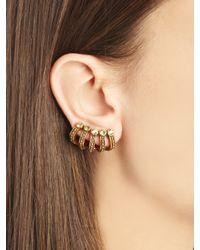 Oscar de la Renta - Multicolor Swarovski Crystal Multi-Hoop Ear Cuff - Lyst