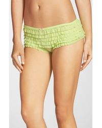 Honeydew Intimates | Yellow 'rumba' Ruffled Mesh Boyshorts | Lyst