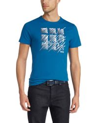BOSS Green | Blue Cotton T-shirt 'tee 2' for Men | Lyst