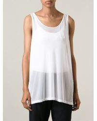 Minimale Animale - White Harley Tank Top - Lyst