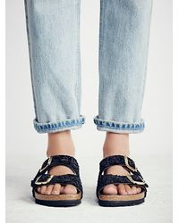 Free People | Black Arizona Parisian Birkenstock | Lyst