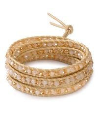 Chan Luu - Metallic Champagne Crystal Five Wrap Bracelet - Lyst