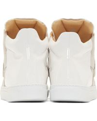 MM6 by Maison Martin Margiela - Natural White And Beige Colorblock High_Tops - Lyst