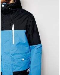 Clwr | Blue Waterproof Jacket With Color Block for Men | Lyst