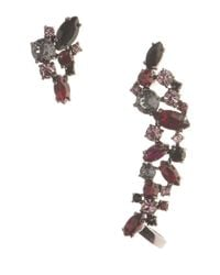 Marchesa | Red Drama Stone Stud And Crawler Earring Set | Lyst