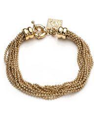 Anne Klein   Metallic Multi-row Flex Bracelet   Lyst