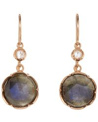 Irene Neuwirth | Pink Gemstone Double-drop Earrings-colorless | Lyst