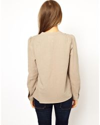 M.i.h Jeans - Natural The Henley Shirt - Lyst