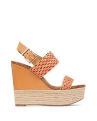 Jessica Simpson | Brown Allyn Faux Leather Espadrilles | Lyst