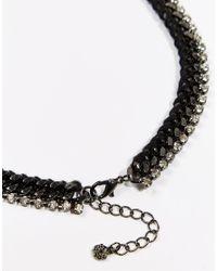 Pieces | Metallic Statement Necklace | Lyst