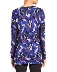 ESCADA | Multicolor Wool Silk Floral Cardigan | Lyst