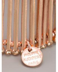 Philippe Audibert - Pink Multistrand Cuff Bracelet - Lyst