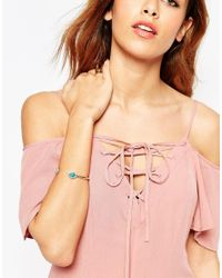 ASOS | Metallic Open Cuff Bracelet | Lyst