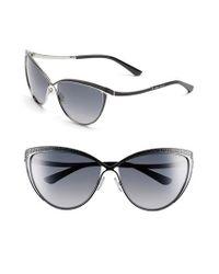 Jimmy Choo - Black 60mm Retro Sunglasses - Ruthenium - Lyst