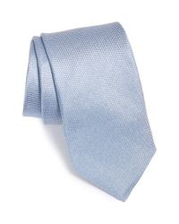 Michael Kors | Blue 'canvas Solid' Silk Tie for Men | Lyst