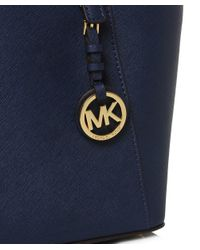 MICHAEL Michael Kors - Blue Jet Set Travel Top Zip Tote Bag - Lyst