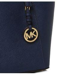 MICHAEL Michael Kors | Blue Jet Set Travel Top Zip Tote Bag | Lyst